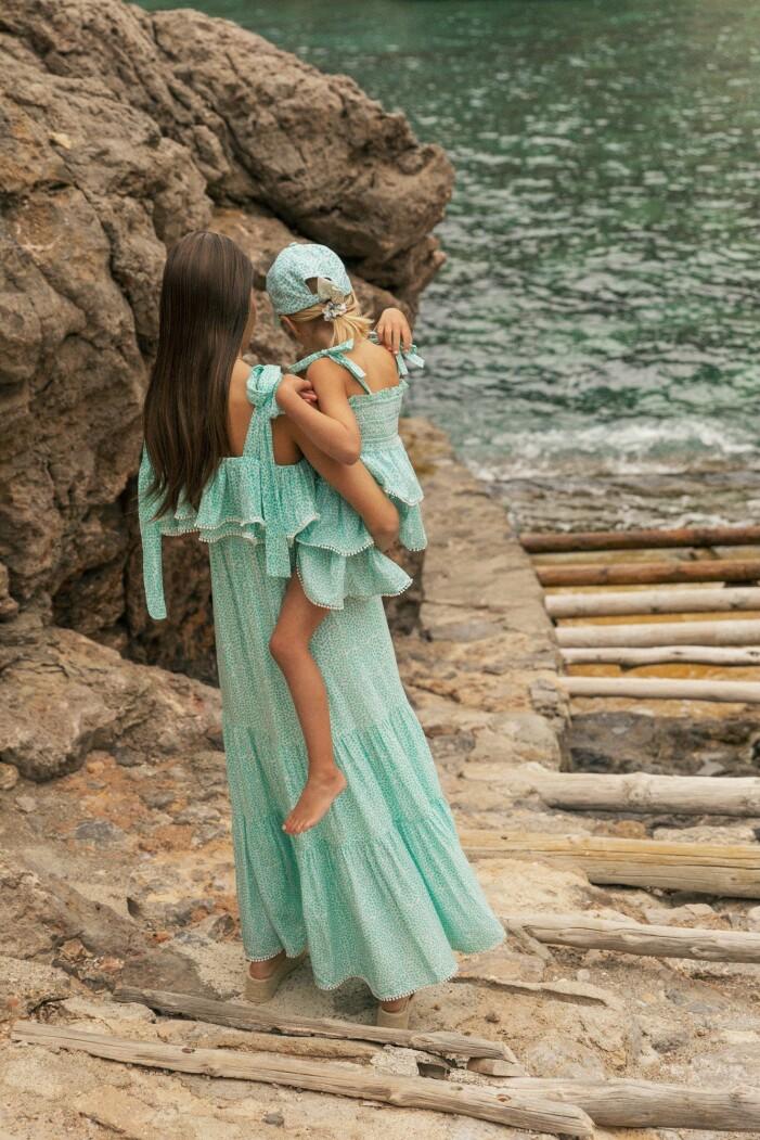 matchande klänningar till mamma och barn sommaren 2021