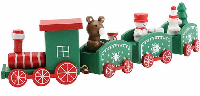 Leksakståg i trä till jul