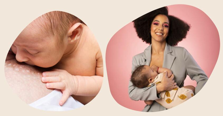 Ammande bebis och Asabea Britton