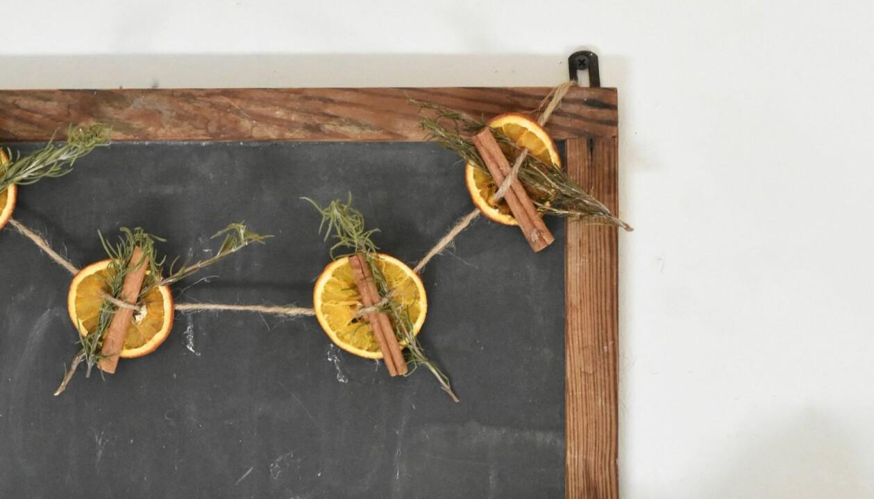 Apelsiner julpyssel