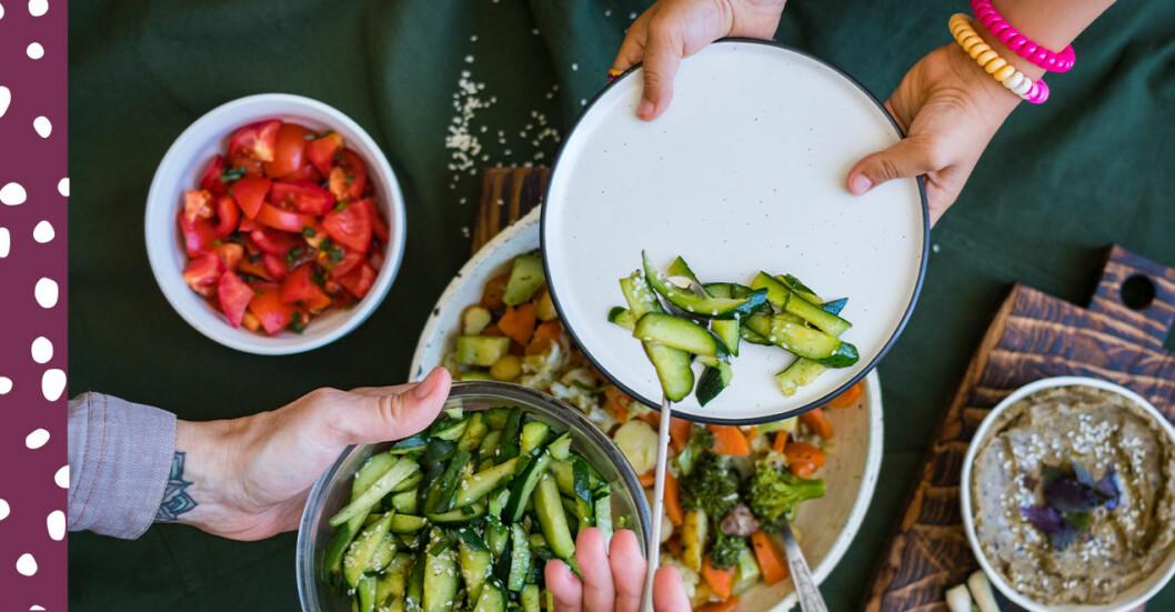 barn äta vegetariskt S