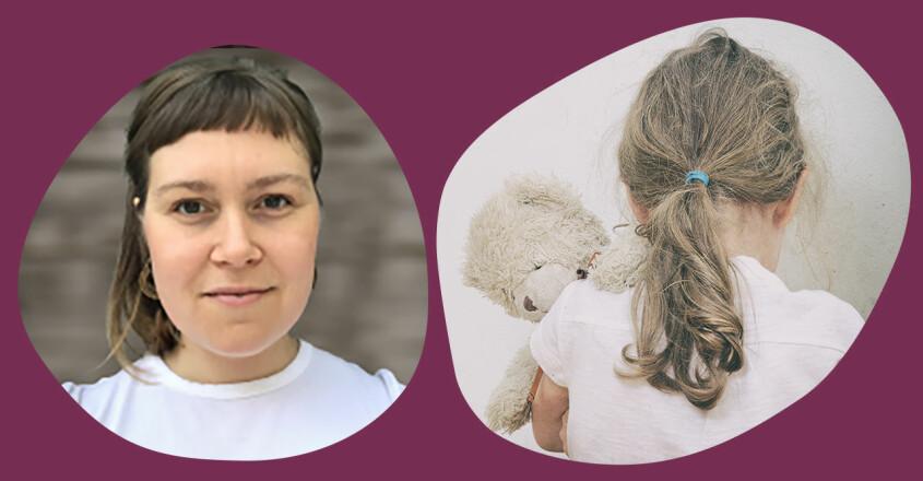 psykologen Kristina Ahlman och ett oroligt barn