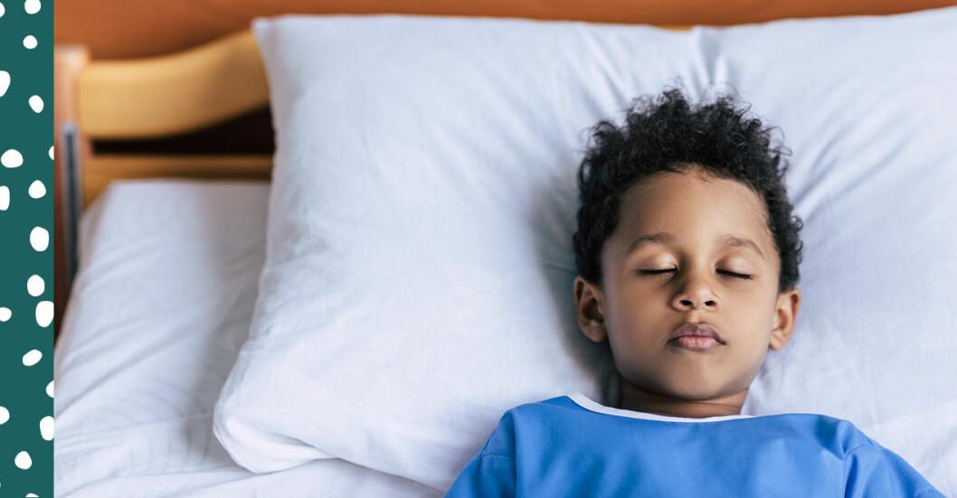 liten kille på sjukhus S