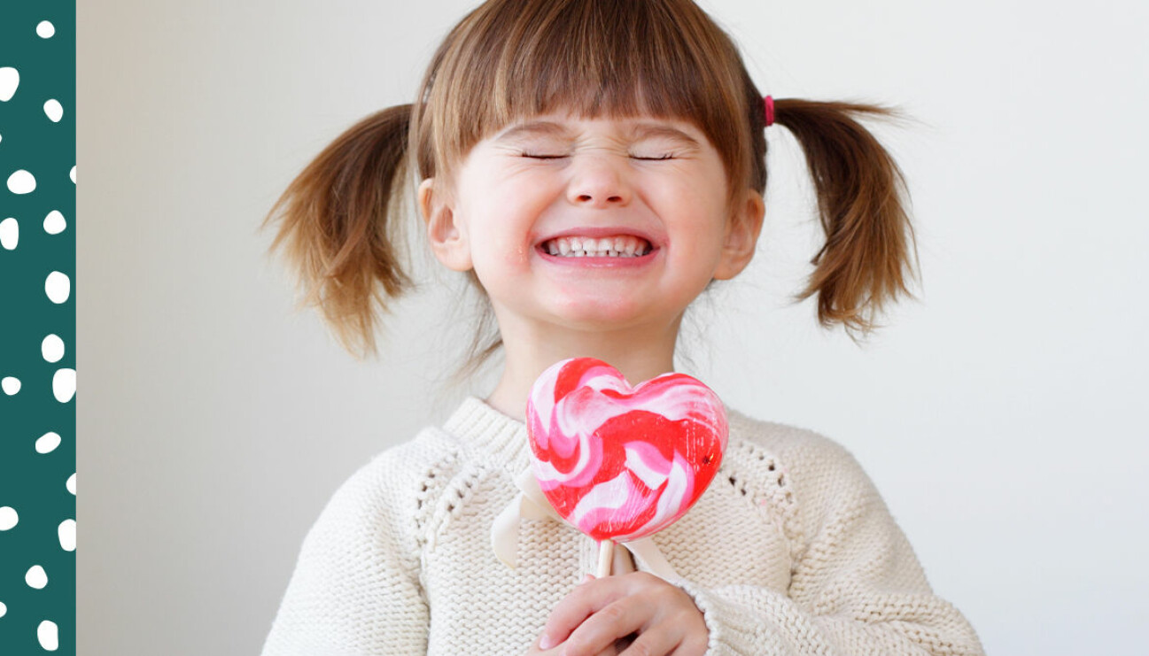 Barn som äter socker