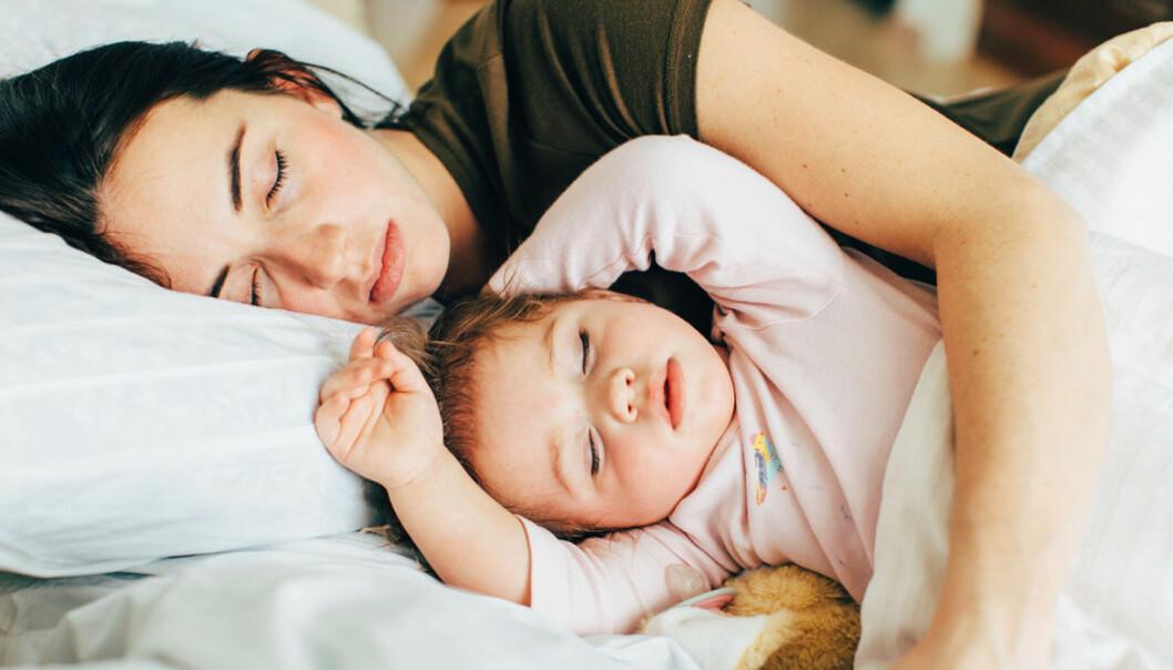 Föräldrar sover dåligt