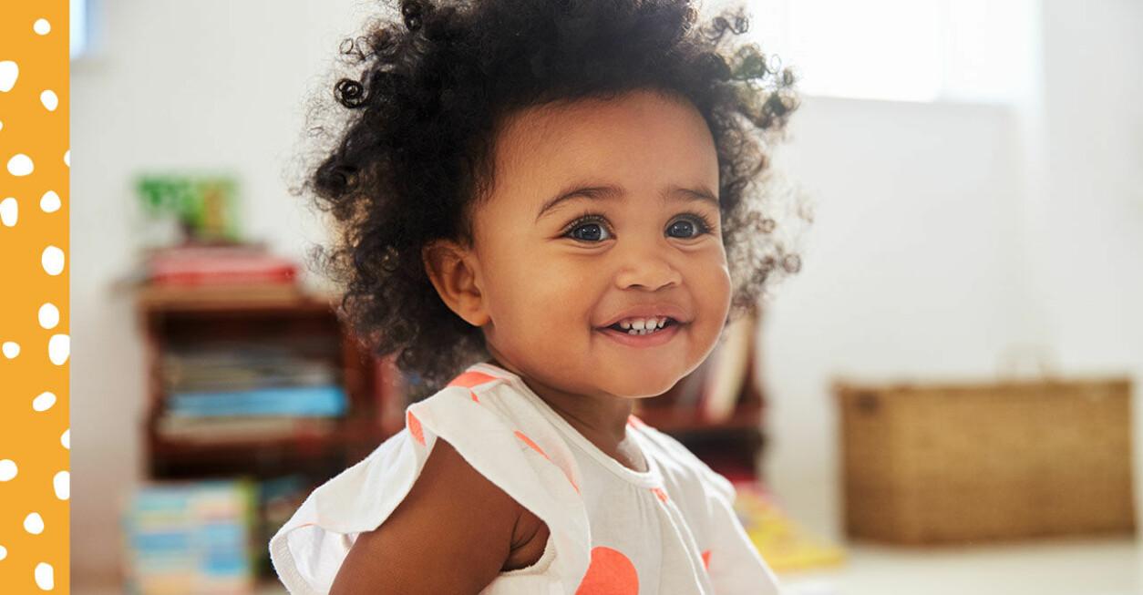 Ett barn som ler