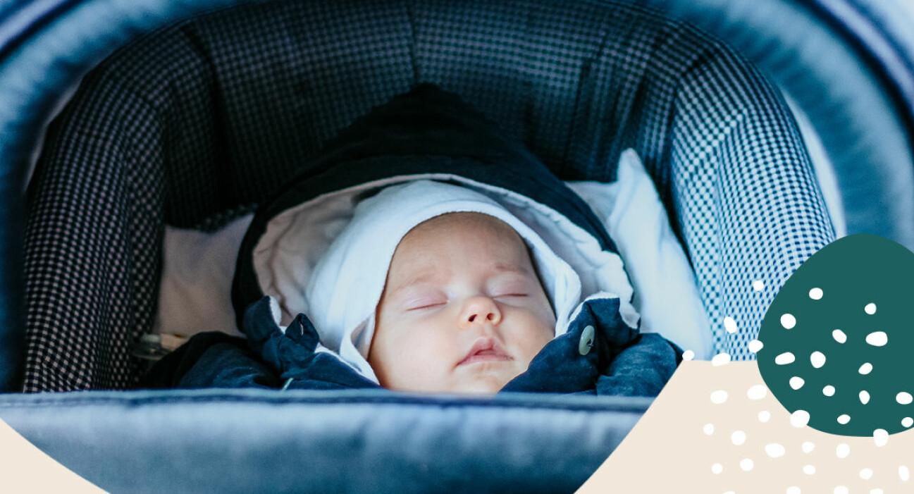 Bebis i vagn minusgrader