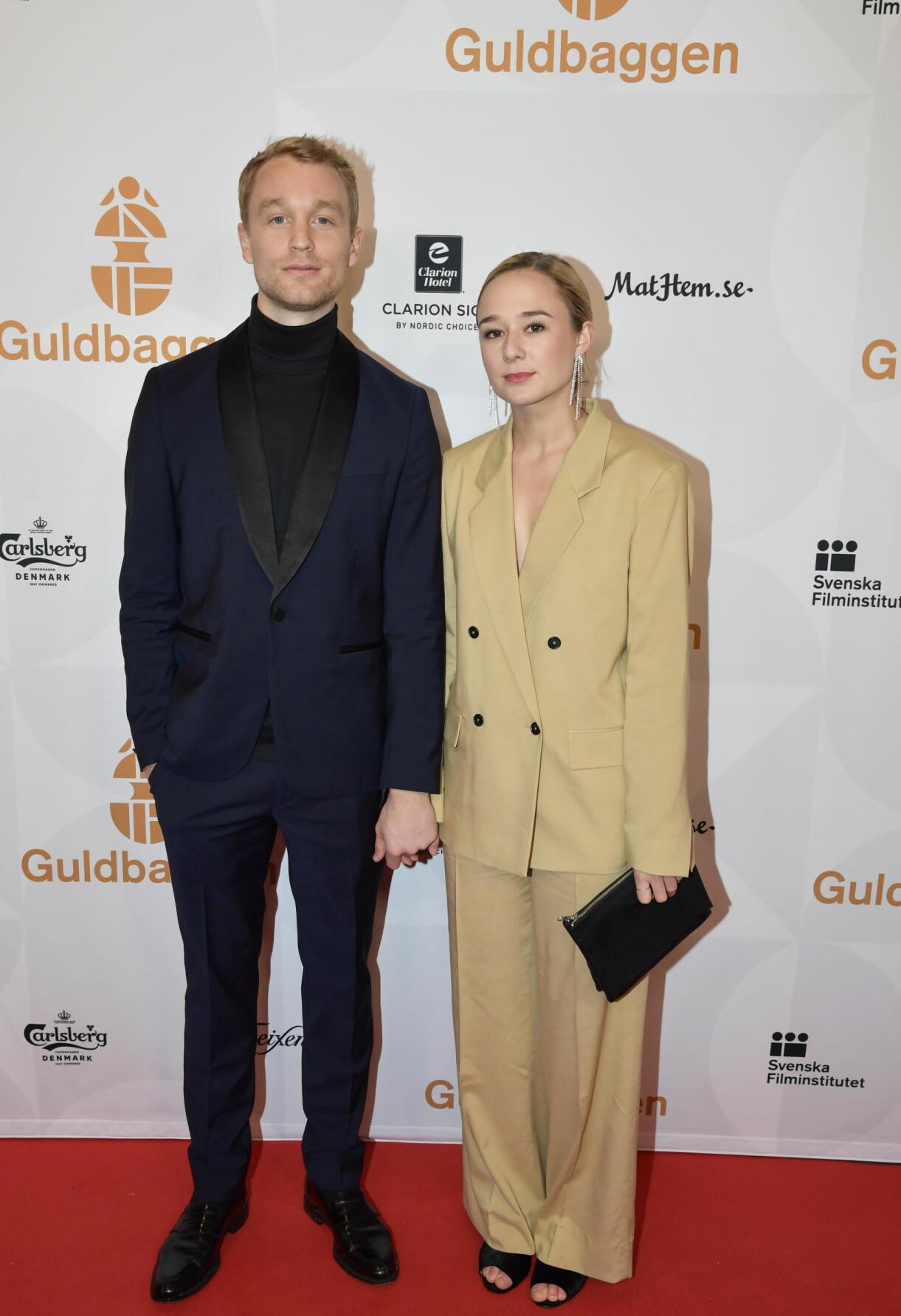 Björn Gustafsson och Alba August på Guldbaggegalan 2019.
