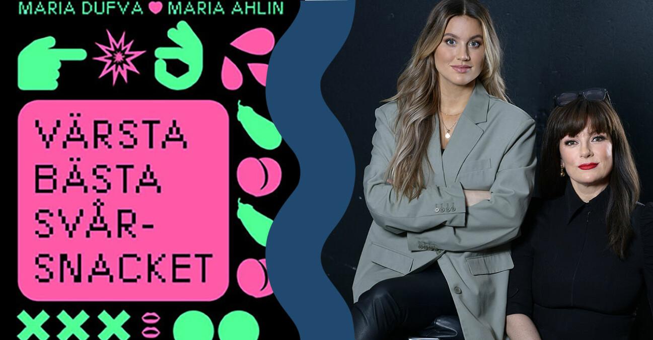 Maria Ahlin och Maria Dufva är författare till boken Värsta bästa svårsnacket