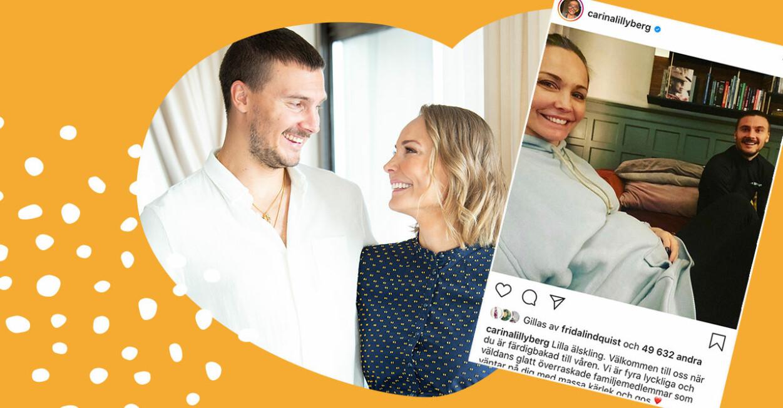 Carina Berg och Erik Berg väntar sitt andra barn