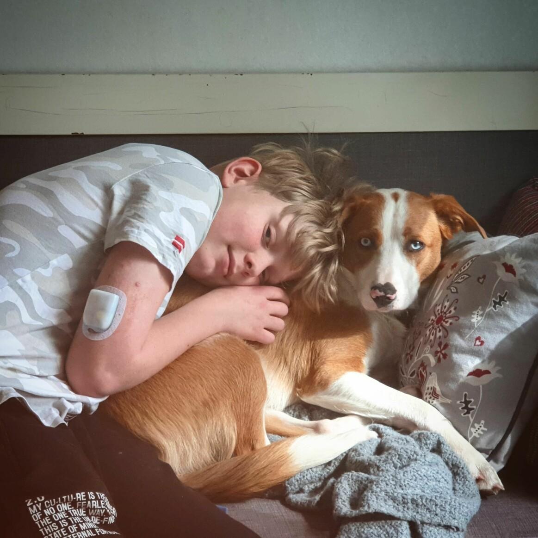 Dante med sin hund