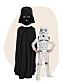 Darth Vader-dräkt vuxen och stormtrooper-kit barn