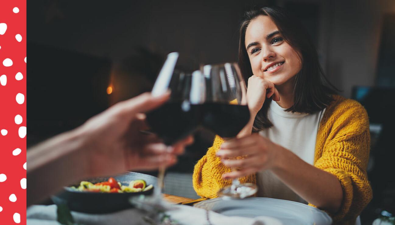 Dejt med vin hemma under corona