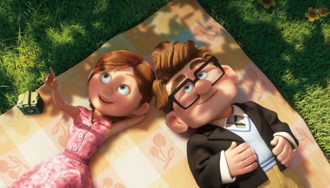 Ellie och Carl i Upp.