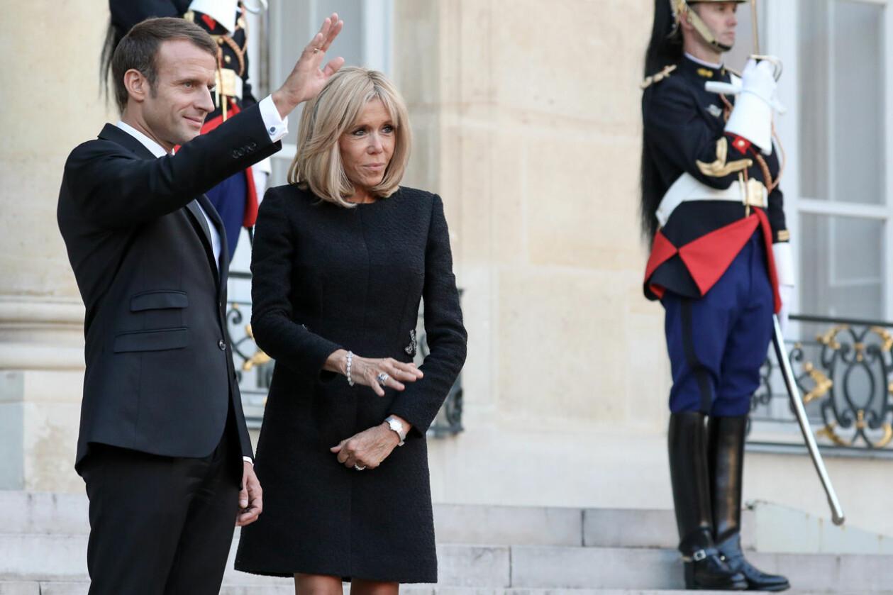 Emmanuel Macron och Brigitte Macron