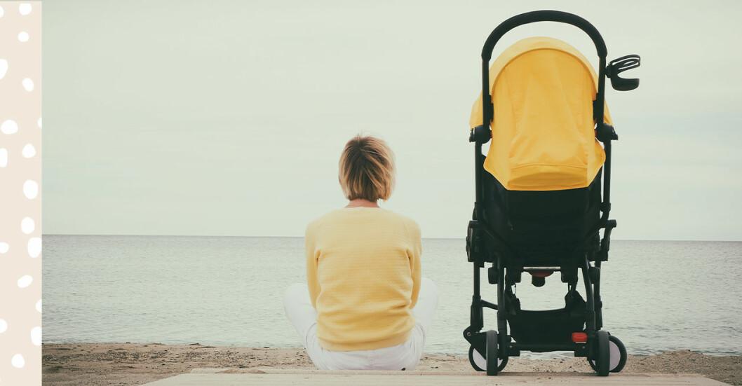 mamma barnvagn