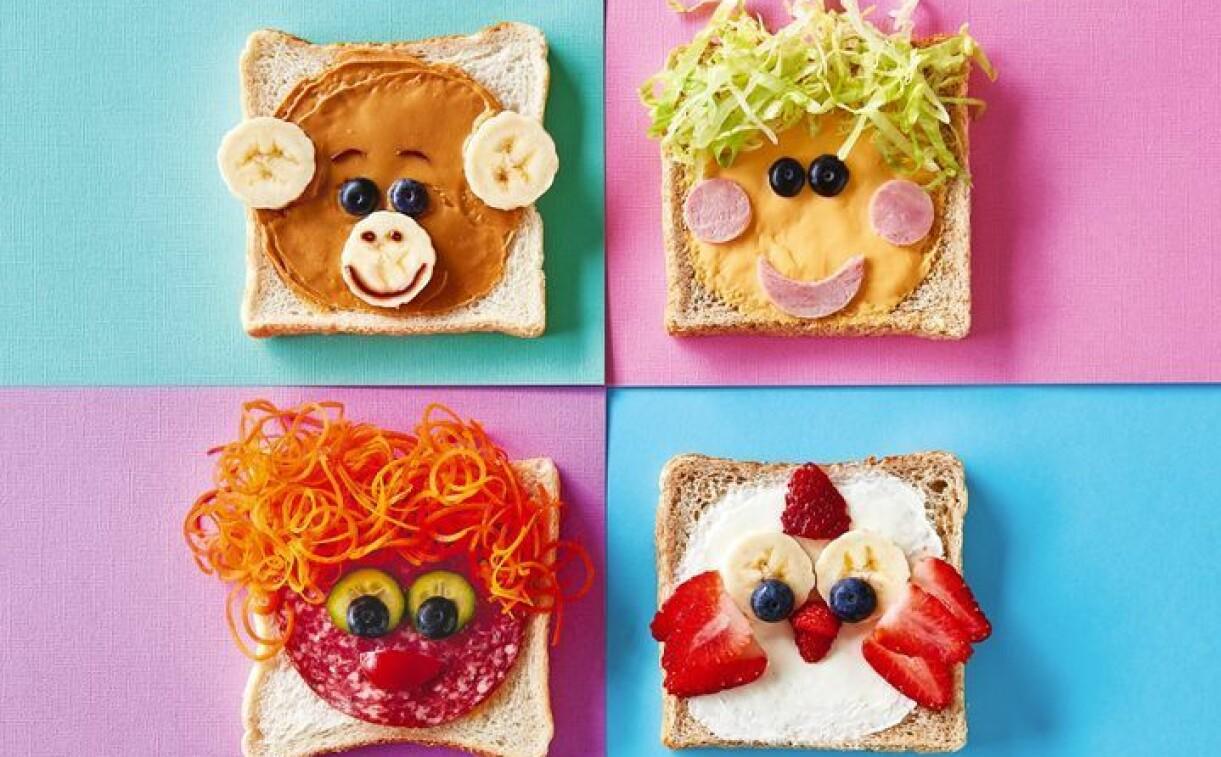 förrätt till barn på nyår, rolig smörgås