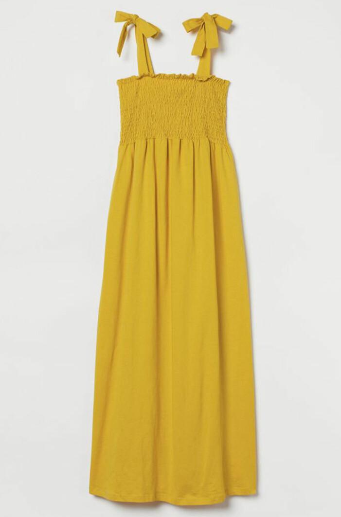 gul gravidklänning