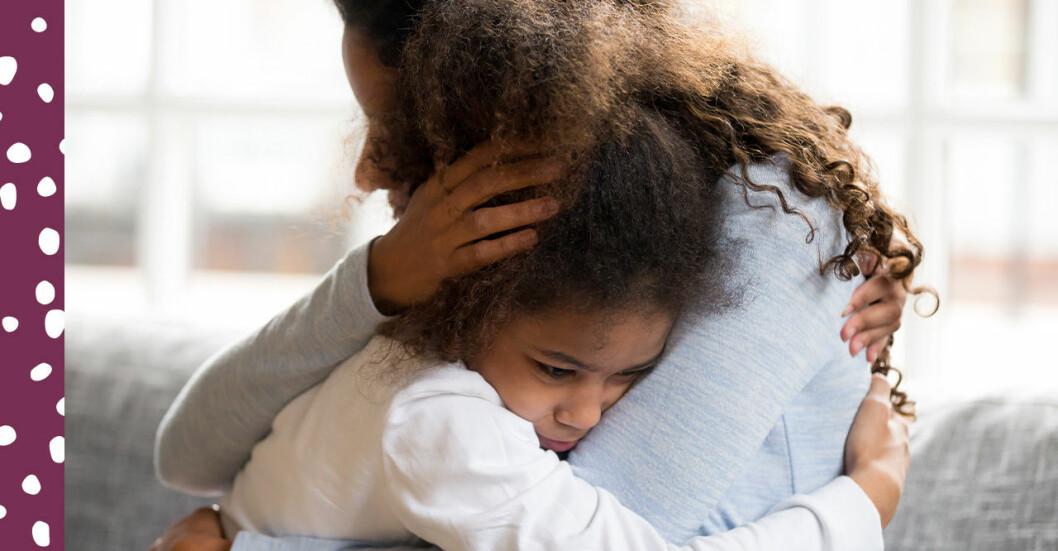 oroligt barn och mamma