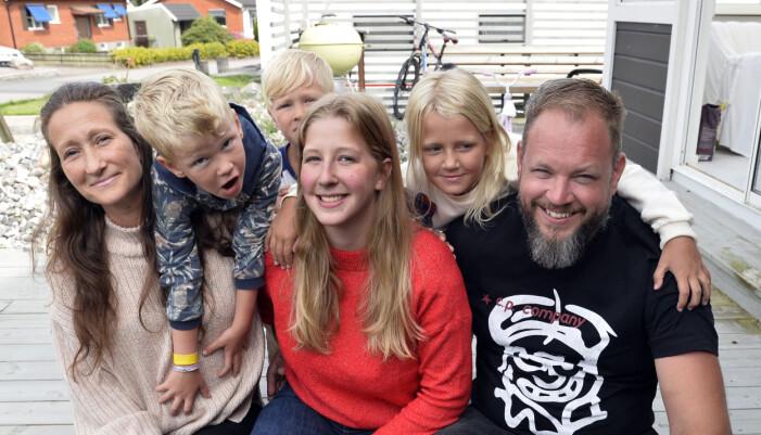 Filippa med familjen