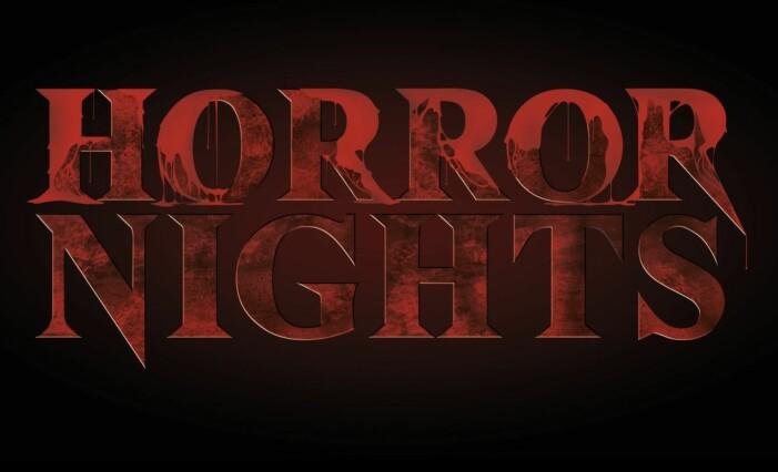 Skylt för Horror Nights