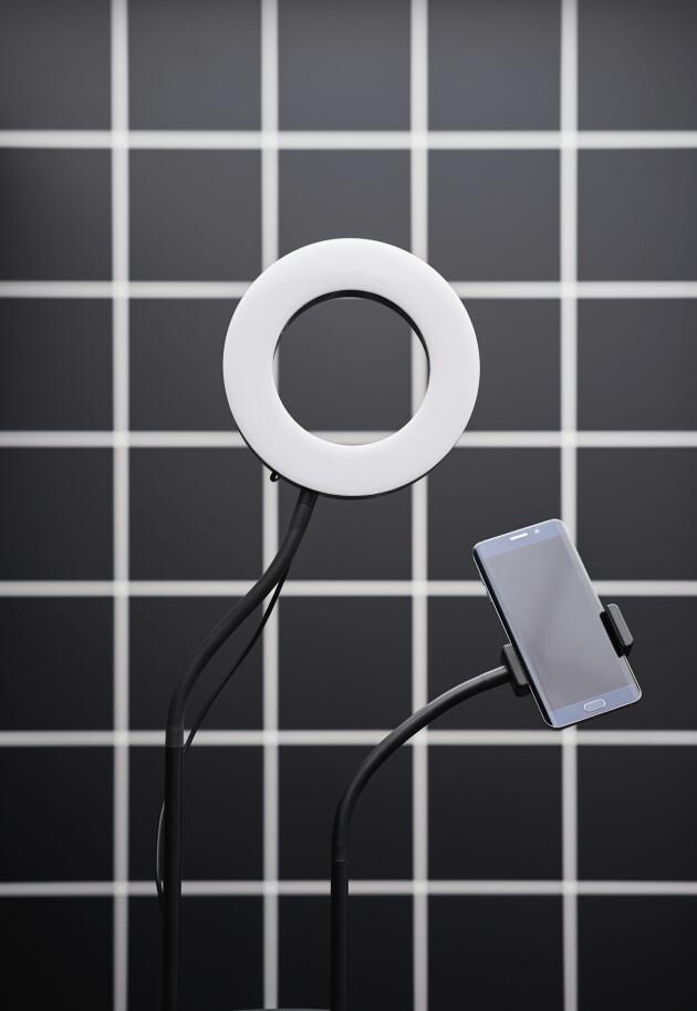 Ringbelysning och hållare för mobil