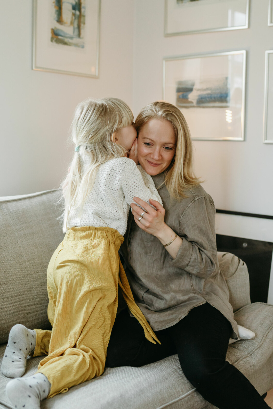 Paulina Gunnardo och dottern.