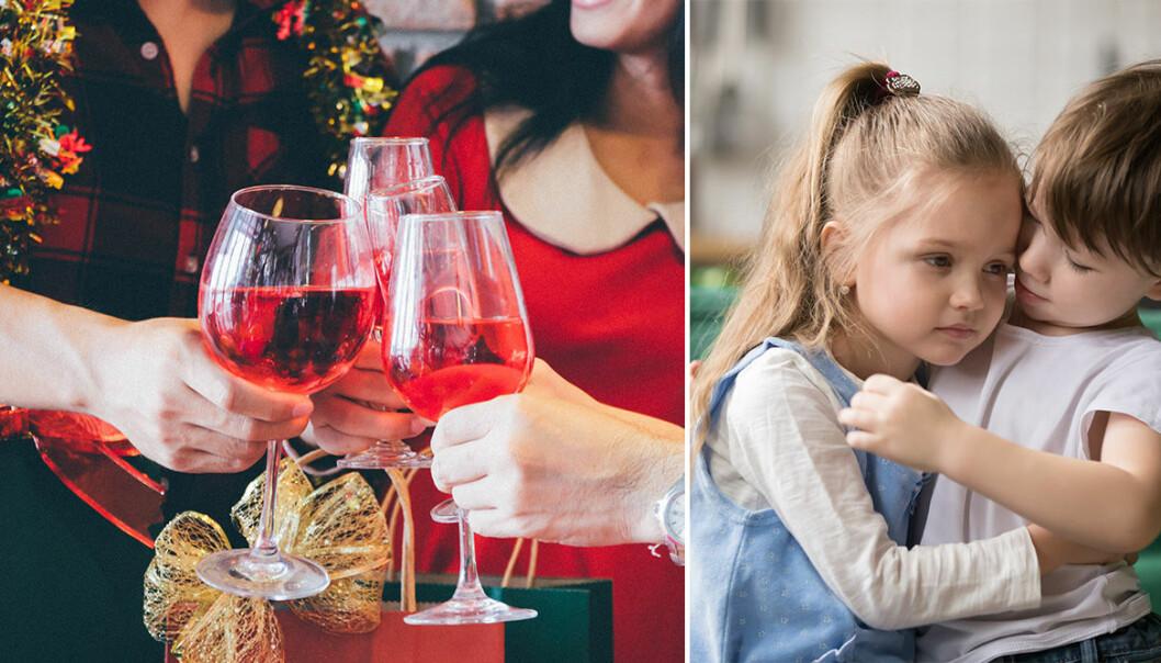 Så påverkas barnen av fulla vuxna på julen