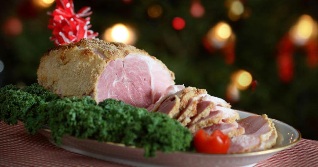 Julskinka går bra att äta.