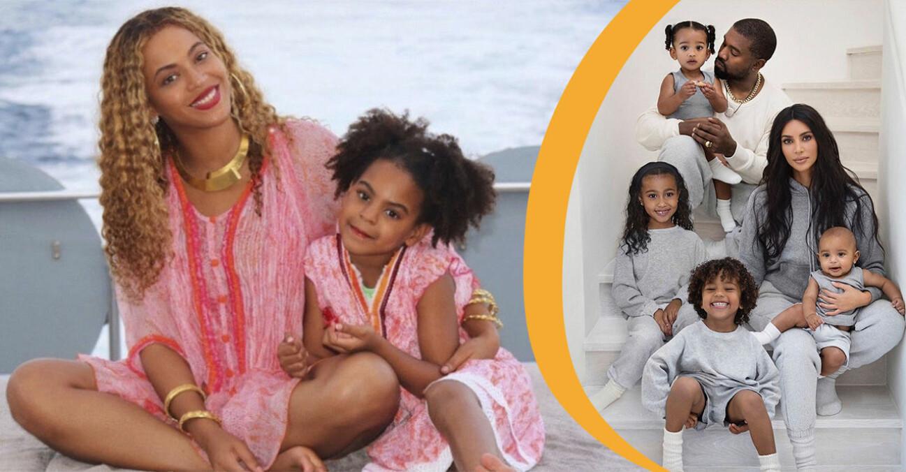 Beyoncé, Blue Ivy och familjen Kardashian West