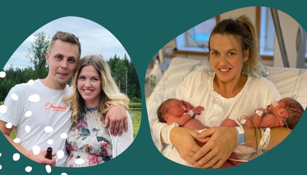 Bonde-Karin Nordström om chocken under förlossningen med tvillingarna