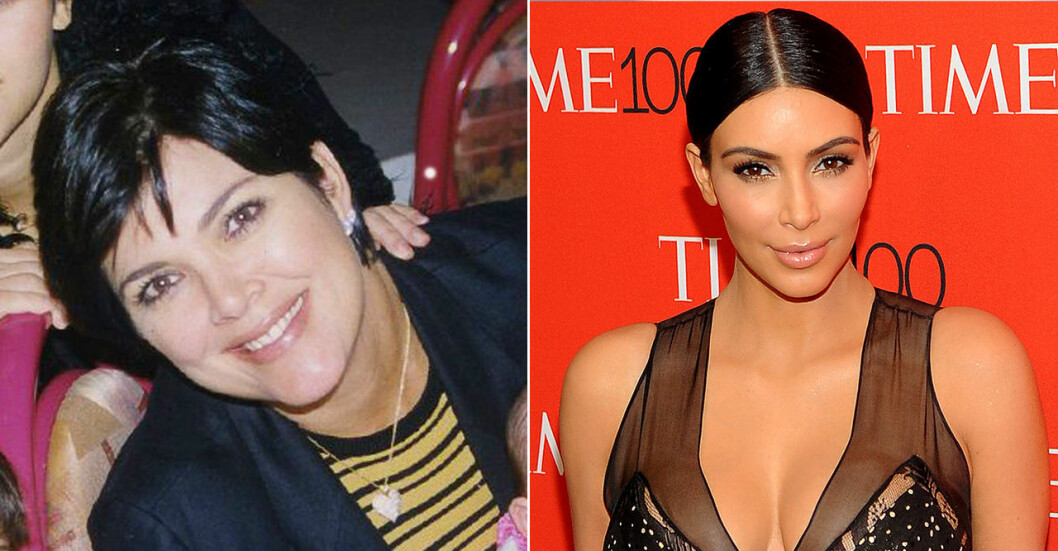 Kris Jenner och Kim Kardashian West
