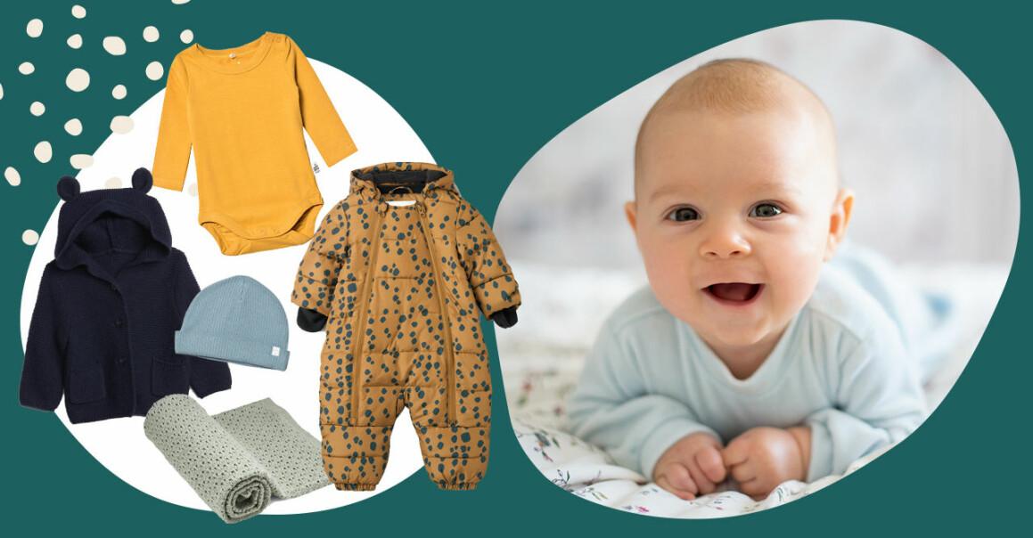 Kläder för bebis under den första tiden