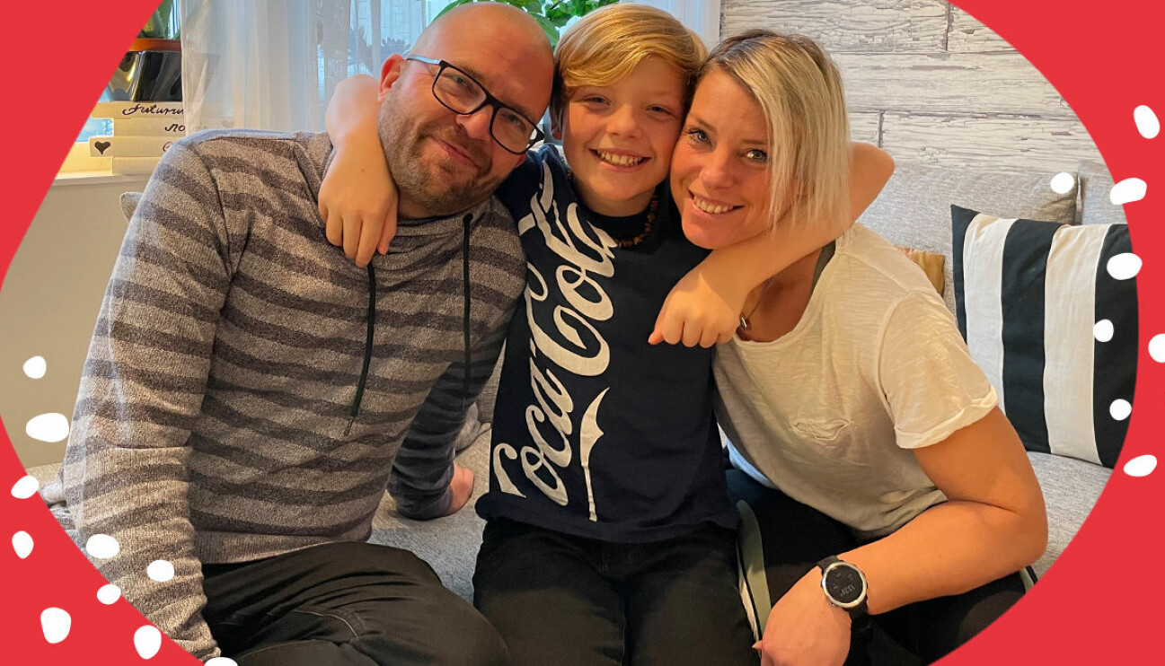 Kristin, Hampus och Fredrik Guldager