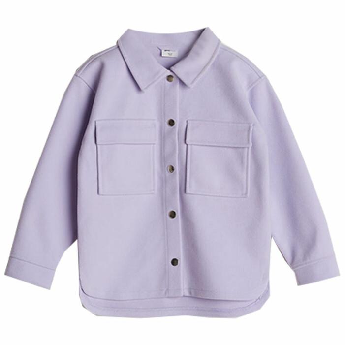 matchande lila skjortjackor till mamma och barn sommaren 2021