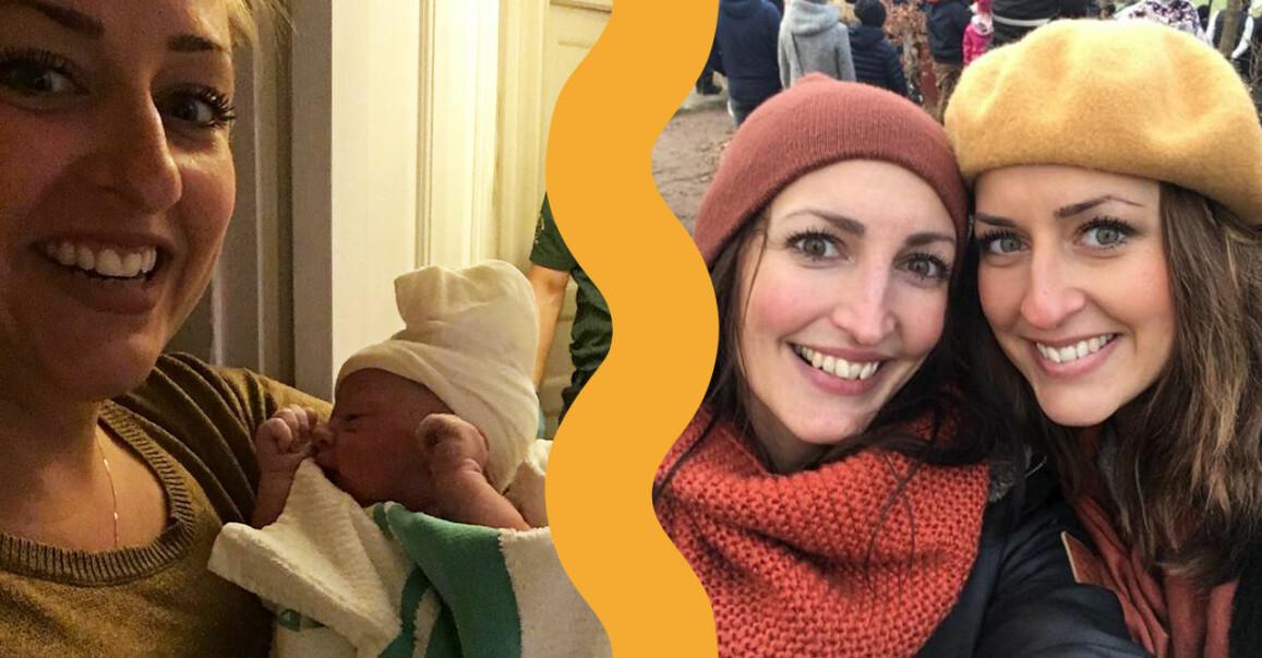 Louise Ekholm förlöste sin systers barn