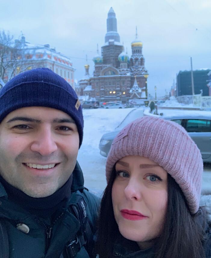 Madeleine och Sina i St Petersburg för att göra en IVF-behandling.