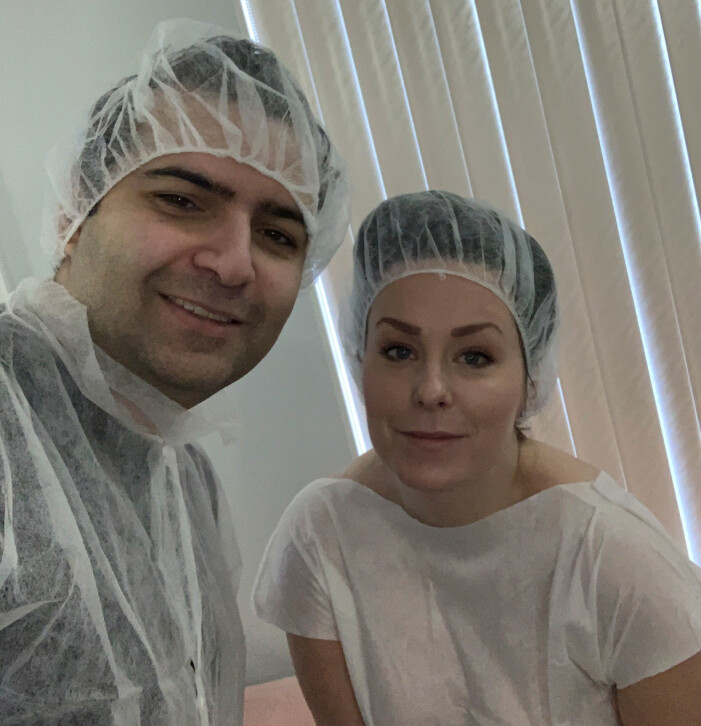 Sina och Madeleine har kämpat för att få barn i tio år. Här syns de på en fertilitetsklinik i Ryssland för att få hjälp med IVF.