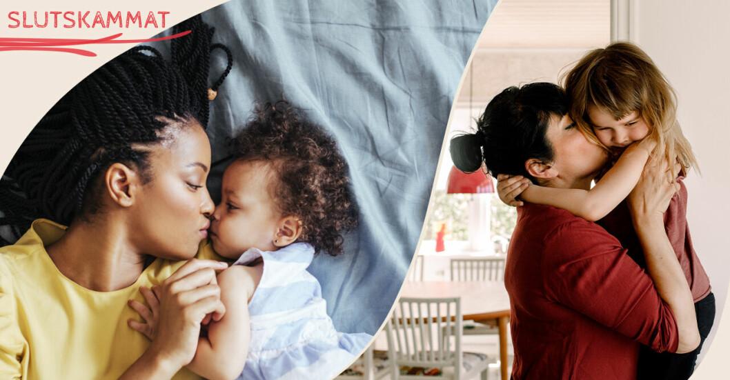 Mammor som myser med barn