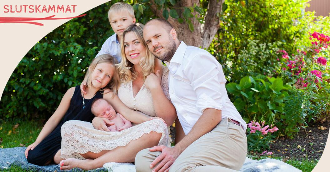 Malin Karlberg med familj