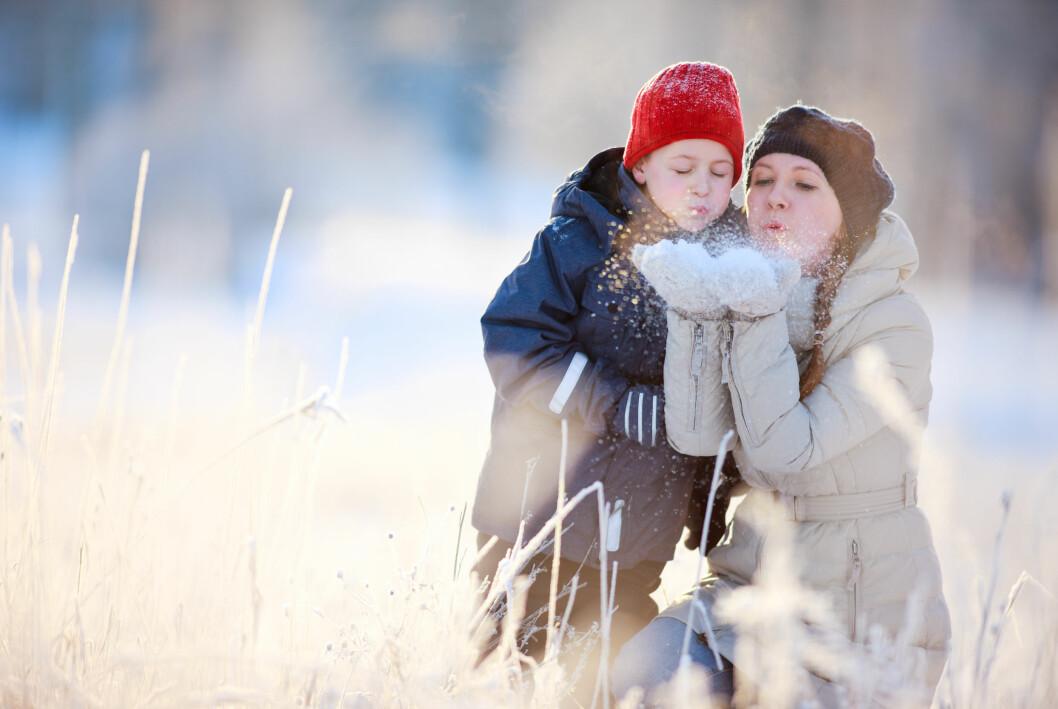 mamma och barn på jullovet