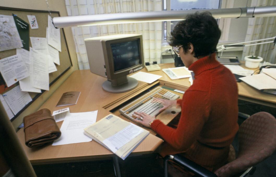 kvinna som jobbar