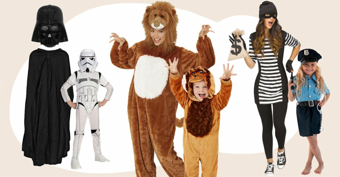 Matchande Halloween-utklädnader för mamma och barn