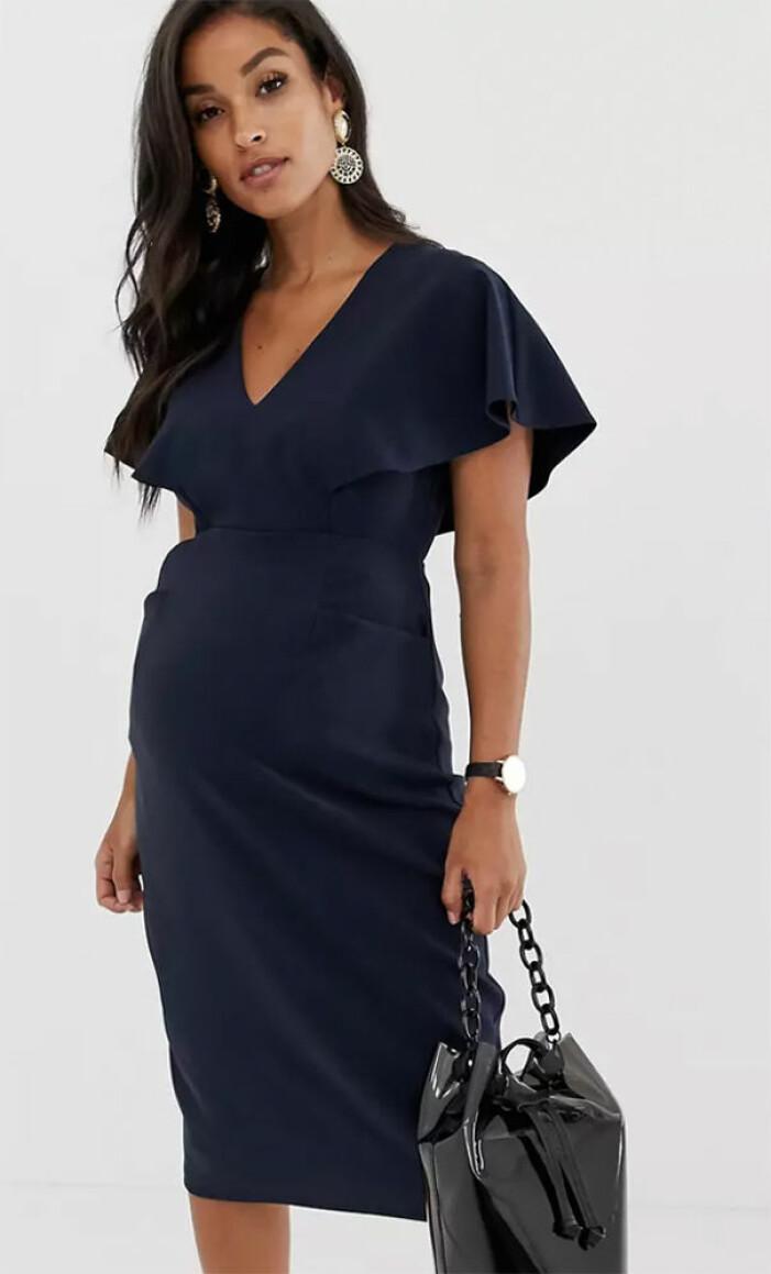 mörkblå gravidklänning