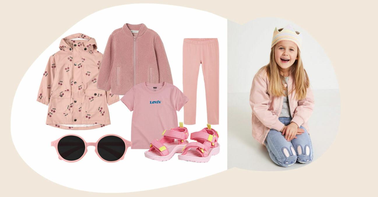 rosa barnkläder