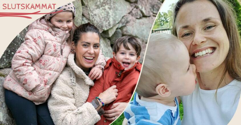 Nina Campioni och Josefin Hullldin med deras barn