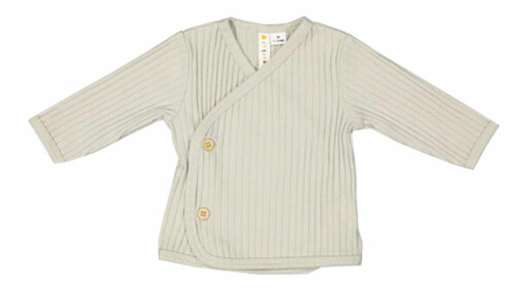 billiga och fina barnkläder - ribbat omlottopp för bebis