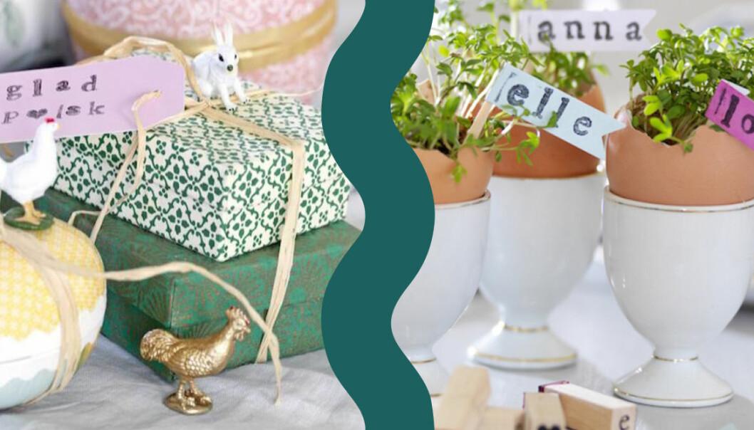 Påskpyssel med grönt