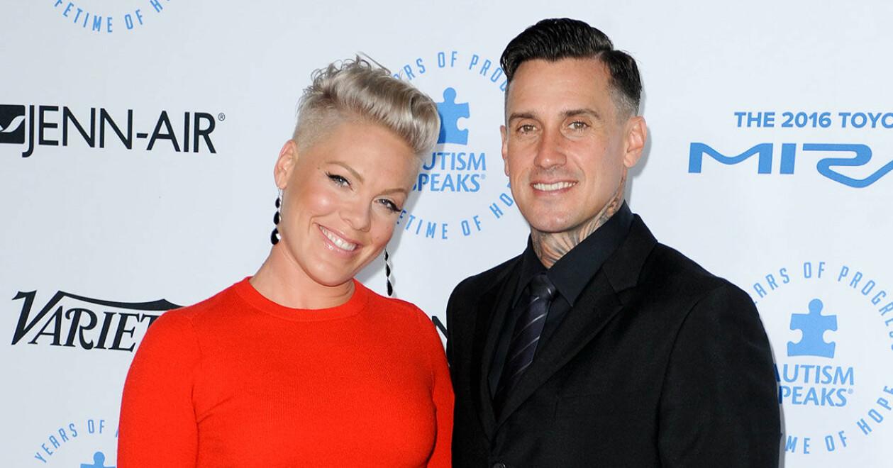 Pink och hennes make Carey Hart