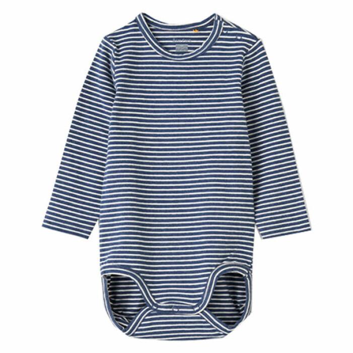 billiga och fina barnkläder - randig body för bebis från åhléns